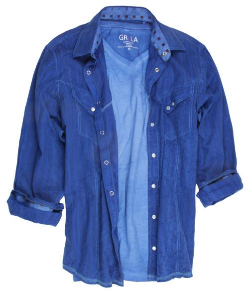Casper-2218007W-005-Long-Sleeves-Garment Dyed -Snaps-Mens-shirt