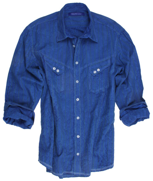Woodstock-2218006W-014-Long-Sleeves-vintage washed- Cotton-Men shirt