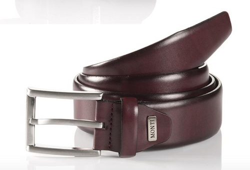 London 06 310-0000-5000 Bordo Business Leather Belt