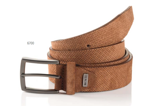 Madrid 06 313-0013-6700 Cognac Suede Fashion Leather Belt