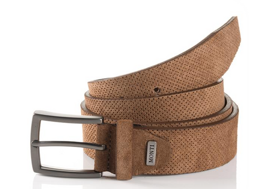 Madrid 06 313-0013-6600 Beige Suede Fashion Leather Belt