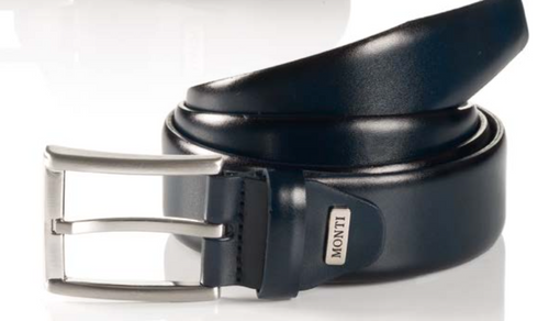 London 06 310-0000-1200 Navy Business Leather Belt