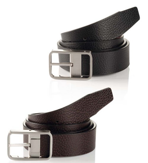 Mailand 06 313-0014-9004 Black/Brown Reversible Business Leather Belt