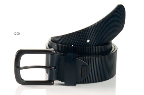 Oklahoma 06 313-0000-1200 Navy Sportswear Style Leather Belt