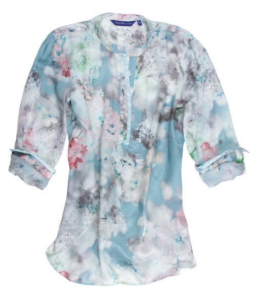 Allie B24001-760 Long Sleeves Pop Over Silk Tunic