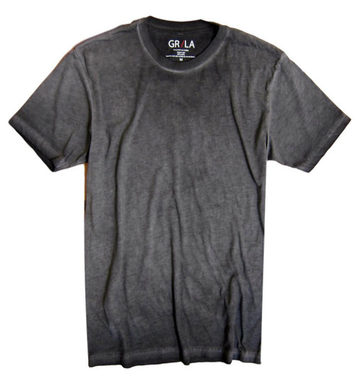 GRLA-C-7012-Basalt Grey-Short-Sleeves-Vintage washed-Crew-Neck-T-Shirt