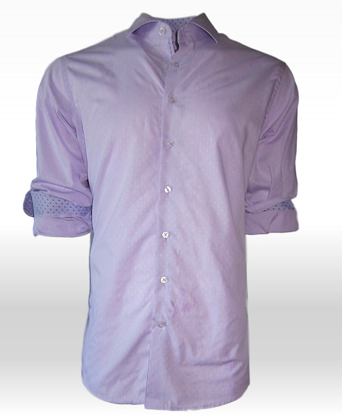 Sydney 34000-020 Mens Long Sleeve Lilac Woven
