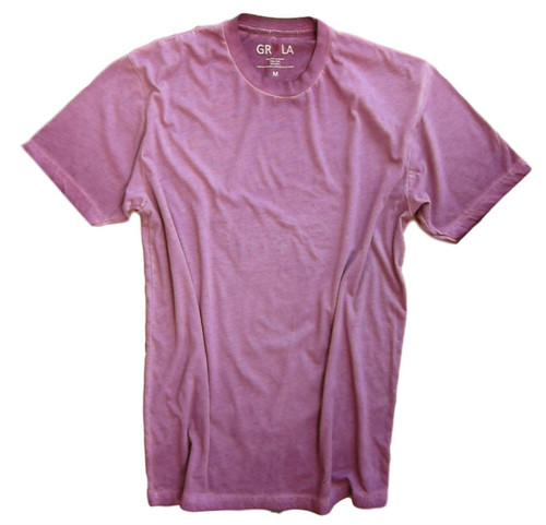 Men's Short Sleeves Crew T-Shirt Color Plim / Garment Dyed 60% Cotton / 40% Polyeste