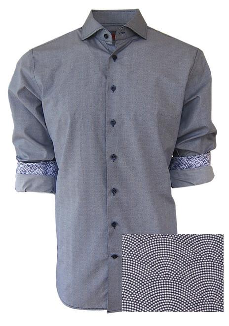 Monaco-34013-020-Long Sleeves Men's Shirt