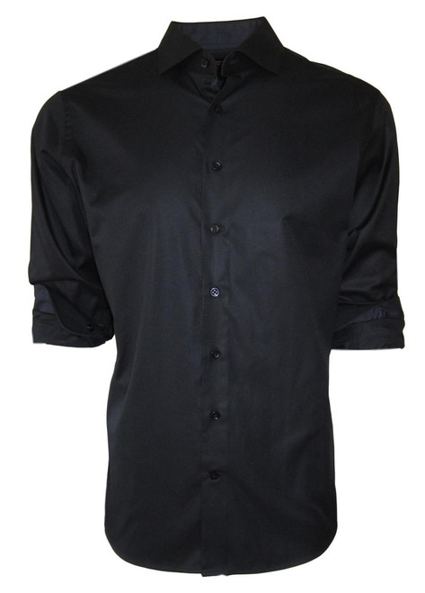 Manhattan 34022 Long Sleeves Black Tone on Tone