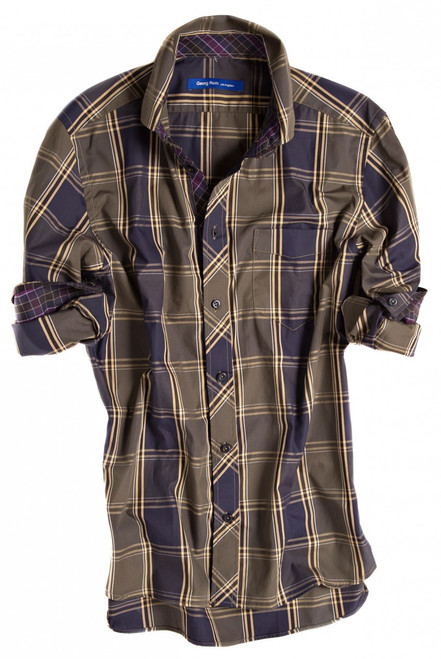Salem-8060-034-Long-Sleeves-Cotton-Men's Shirt