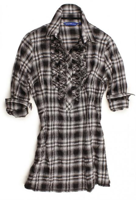 LeAnn-B7090-703 Long Sleeve Tunic with Ruffles