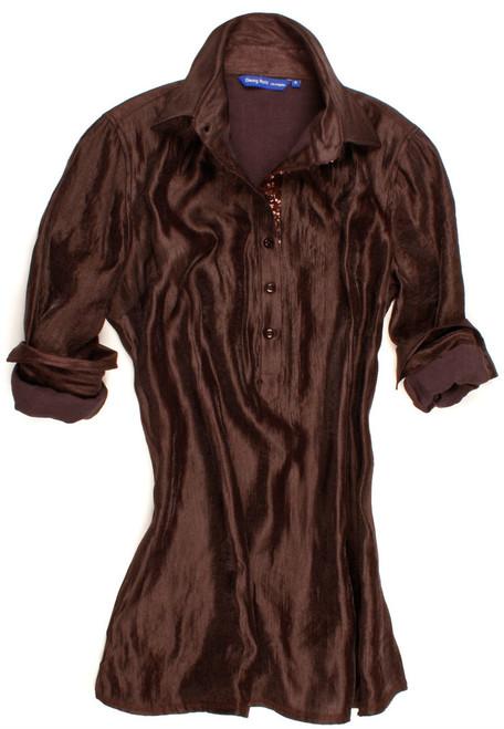 Reese-B7075-703 Long Sleeve Satin Tunic