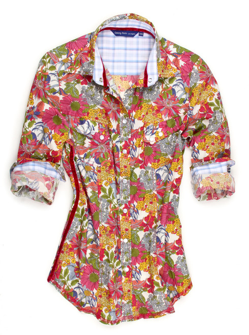 Kelly B9026-705 Long Sleeves Liberty Of London Country Western Style Blouse