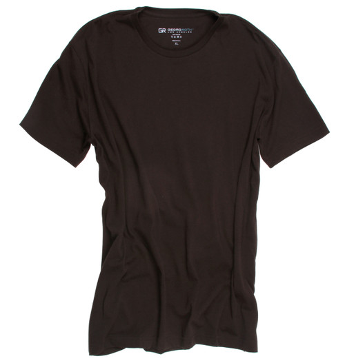 Luxury Crew-Neck Short Sleeves Pima Cotton Mens Tshirt Chocolate TCSS-8022