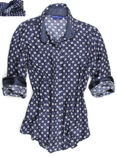 Debra B90010-716 Long Sleeves, Relaxed Fit , Silk Blouse