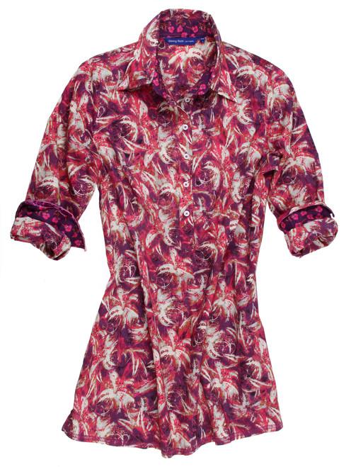 Gigi B7024-703 Long Sleeves Liberty of London printed Cotton Tunic