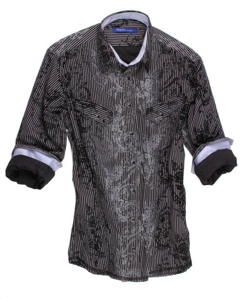 Georg Roth Men's 70062-001 Long Sleeves Snaps Shirt