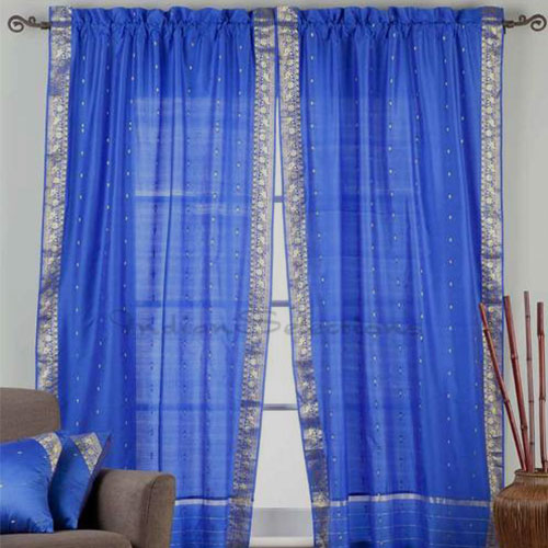 Custom Made Curtains Home Decor Saree Sari Fabric Tunics Kurti