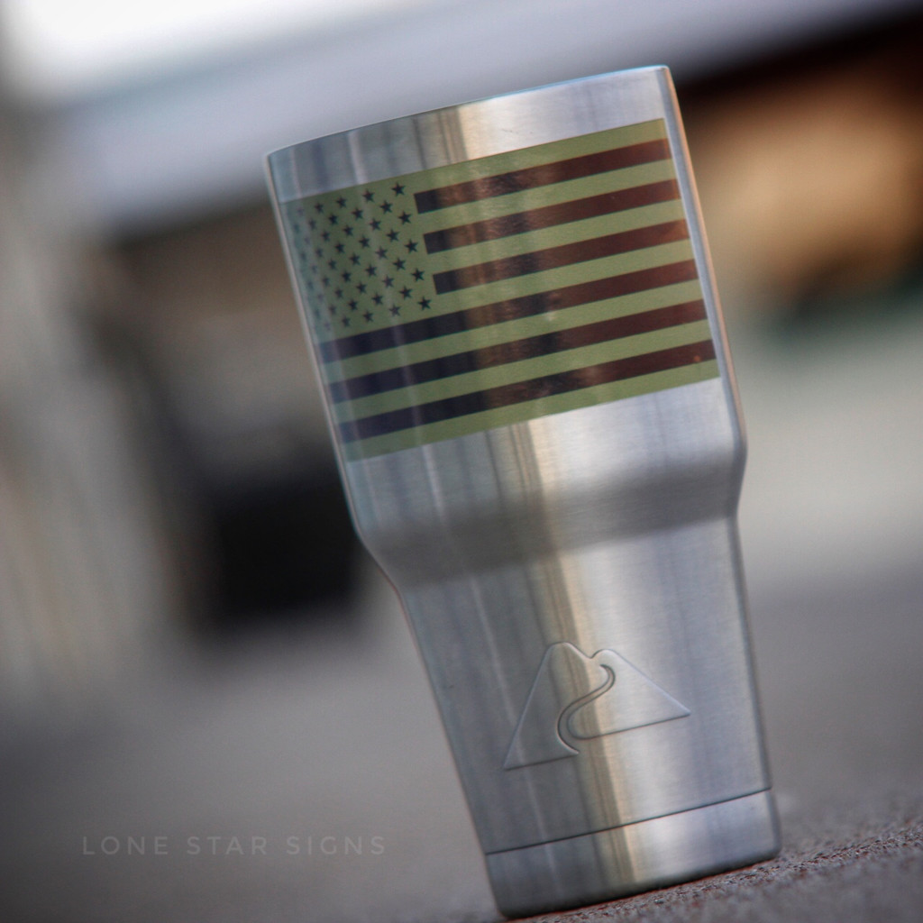 American Flag Inverted Green - Sticker