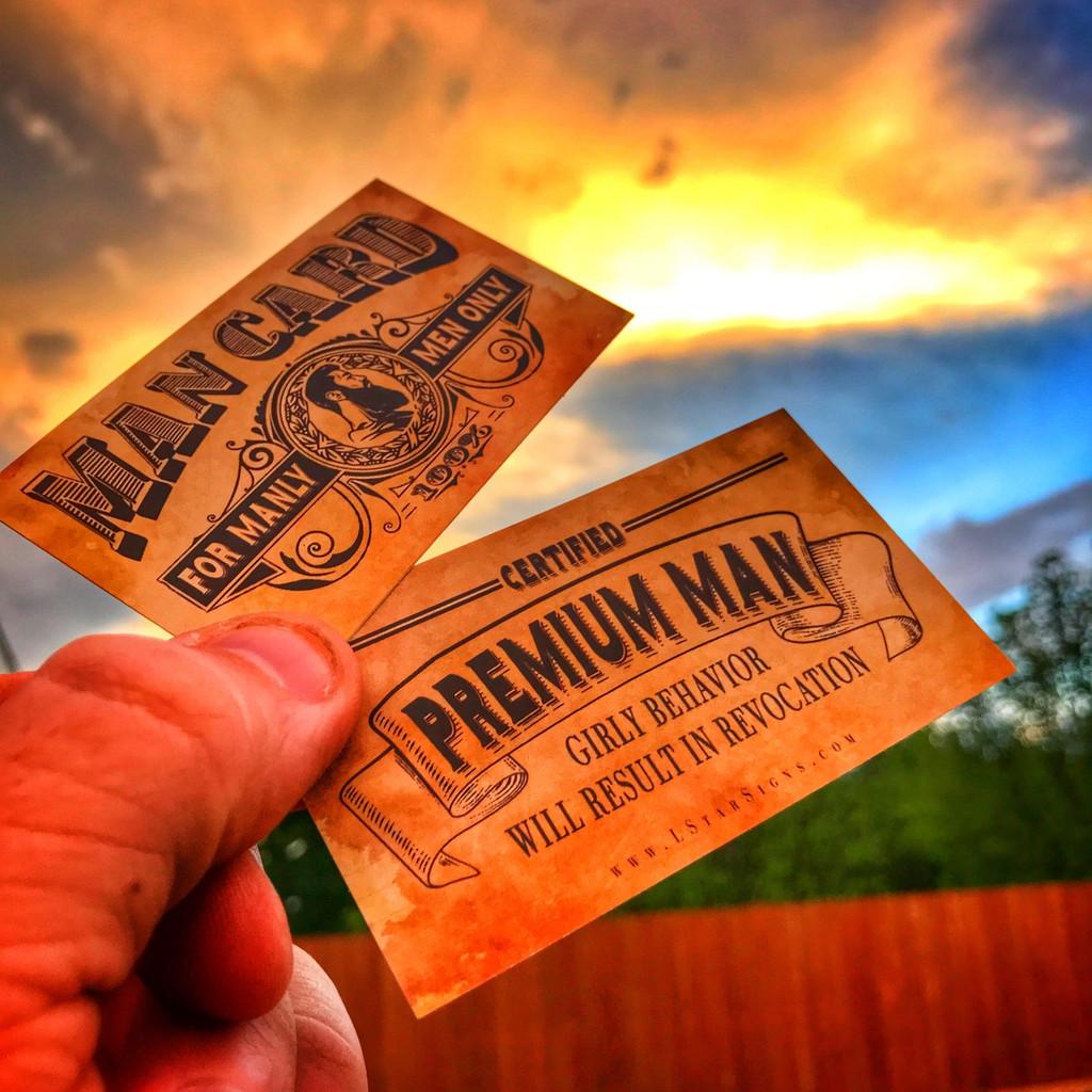 Man Card #ManCard