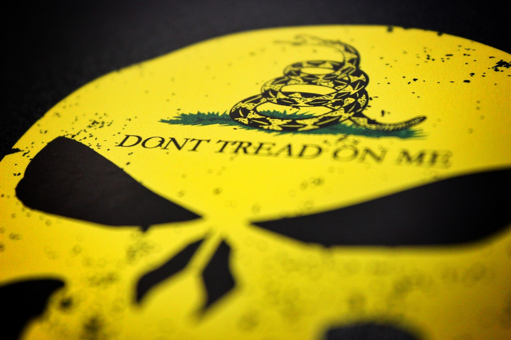 Punisher Don't Tread On Me - Sticker