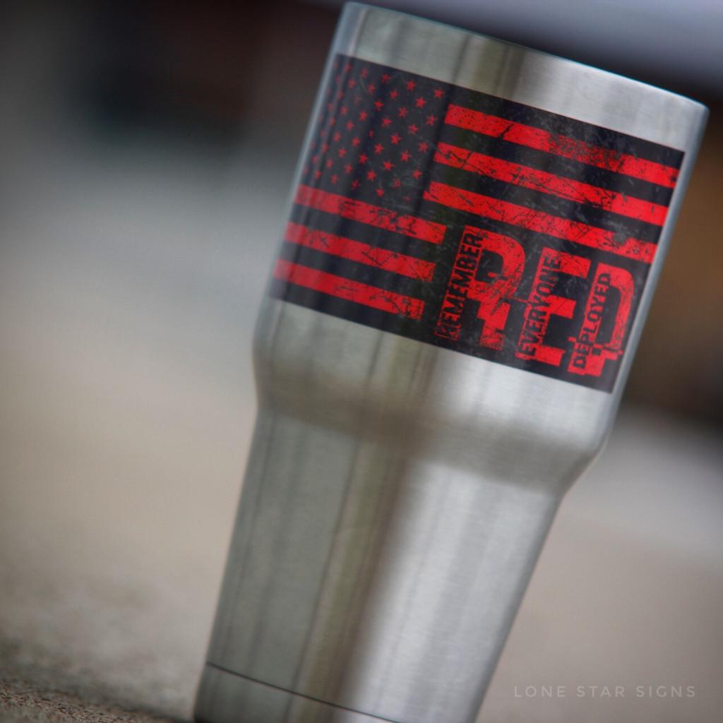 Remember Everyone Deployed Flag - Sticker
