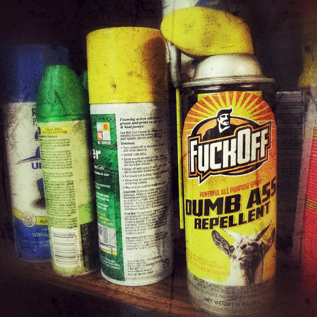 Fuck Off Dumb Ass Repellent - Sticker