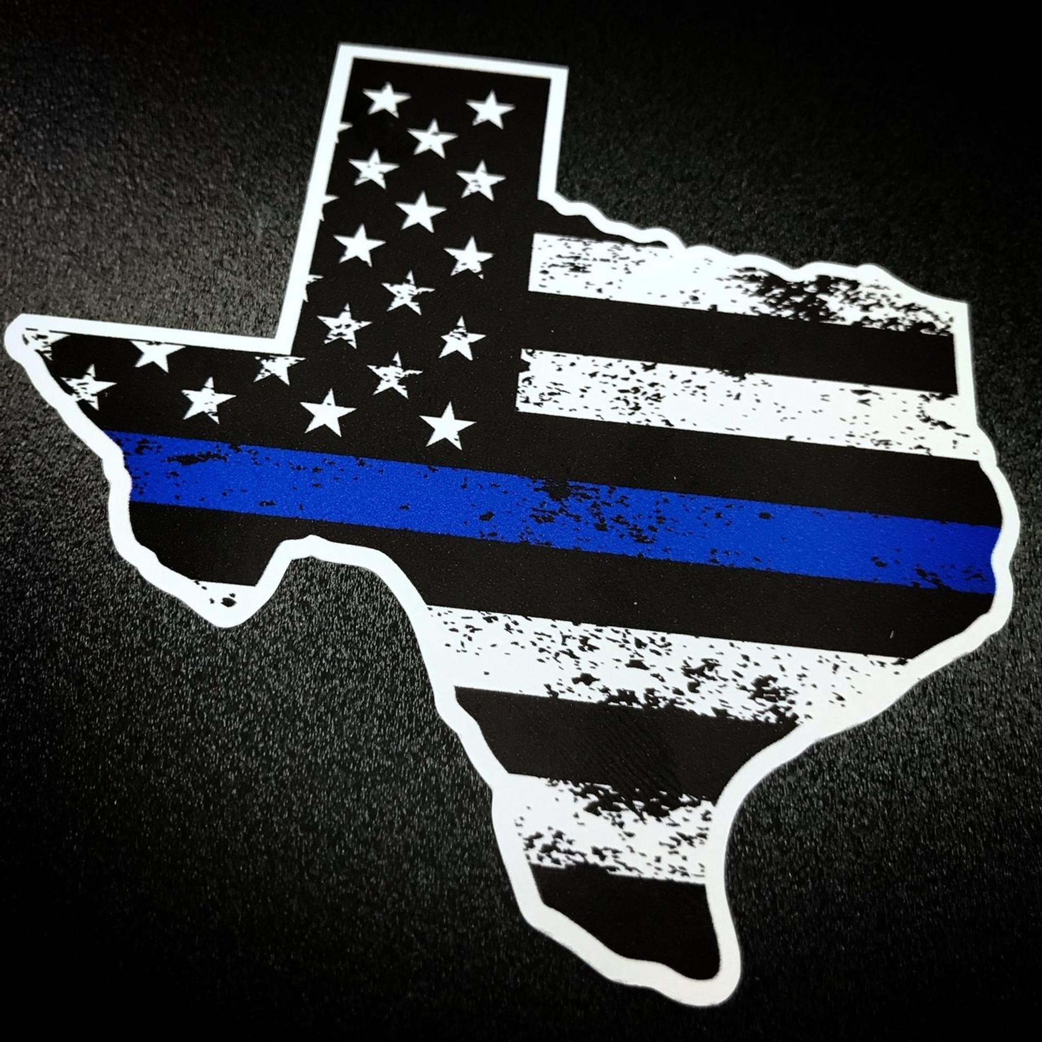 Texas Blue Stripe Sticker