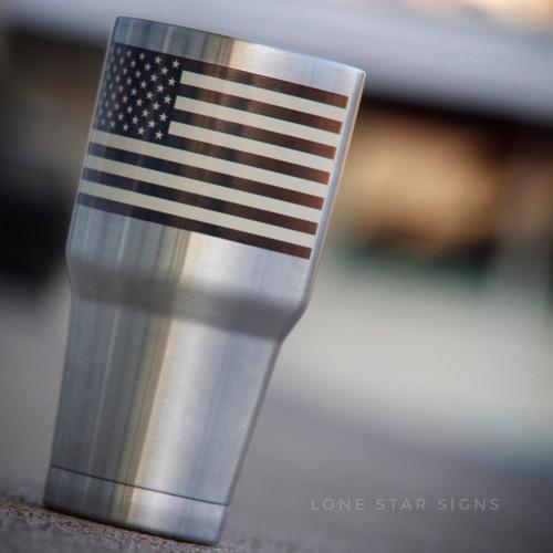 American Flag Tan - Sticker
