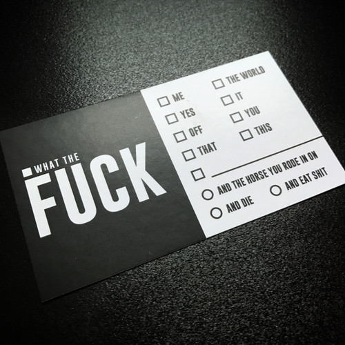 Fuck Business Cards