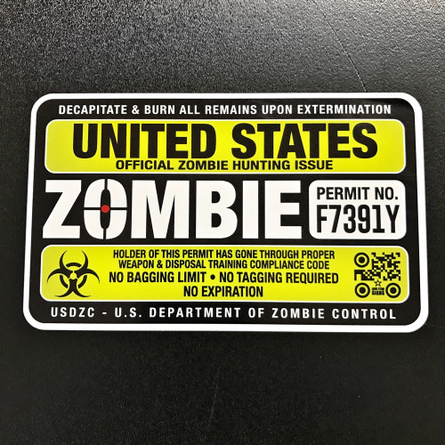 Zombie Hunting Permit