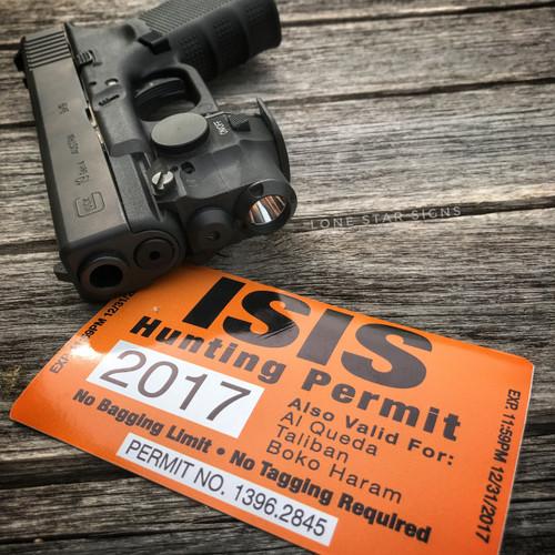 I*S*I*S Hunting Permit Sticker