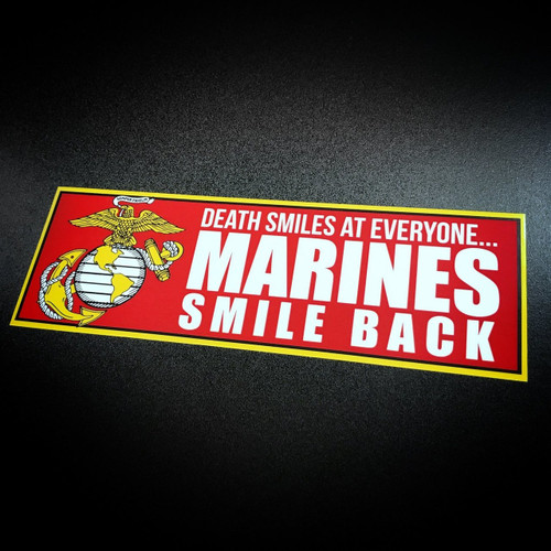 Marines Smile Back - Sticker