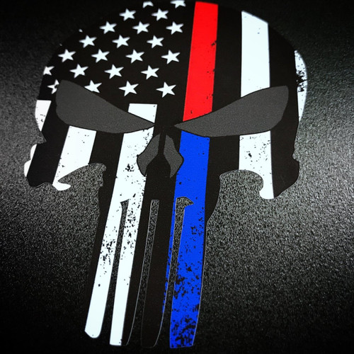 Punisher Red & Blue Stripe