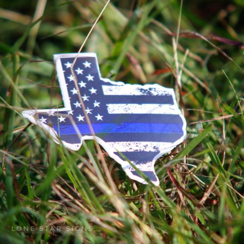 Texas Blue Stripe - Sticker