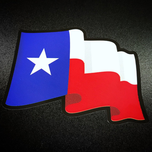 Texas Flag Wavy