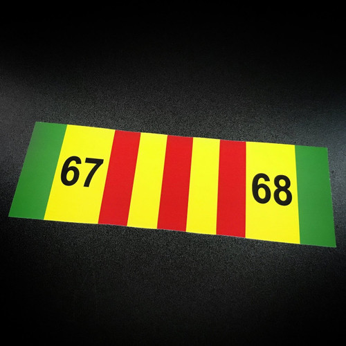 Vietnam Ribbon 67-68 - Sticker