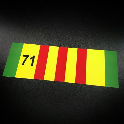 Vietnam Ribbon 71 - Sticker