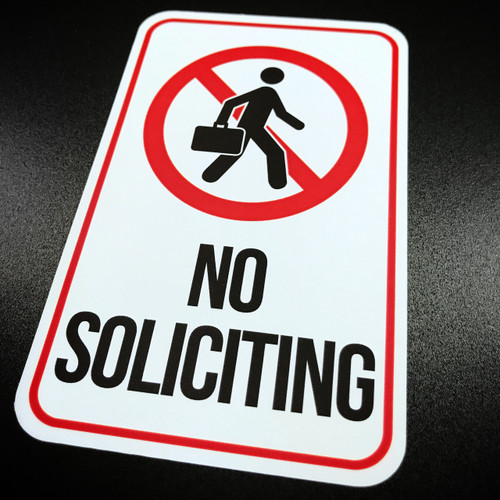 No Soliciting - Sticker