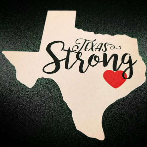 Texas Strong Pink Sticker
