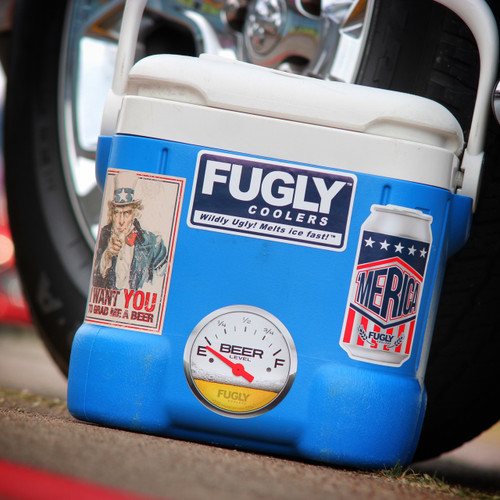 Fugly Coolers Beer 4 pack Stickers
