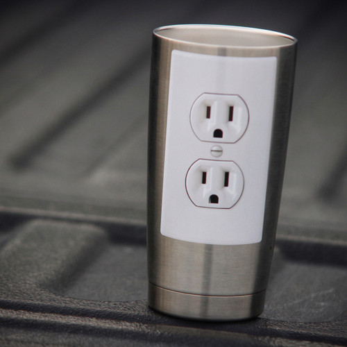 Electrical Outlet Funny Gag Prank - Sticker