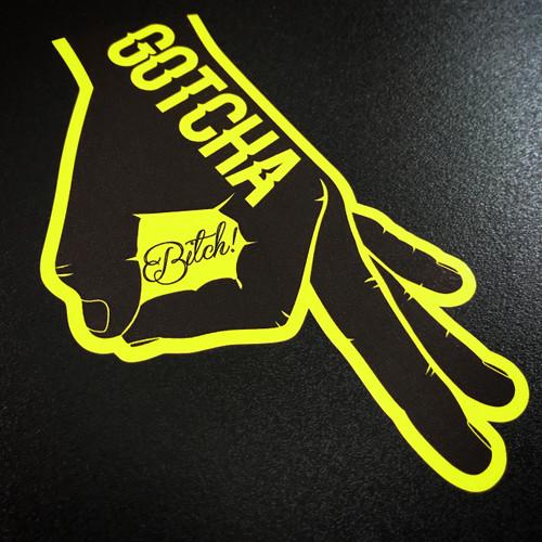 Gotcha Bitch You Looked Circle Punch Game Ballgazer - Sticker