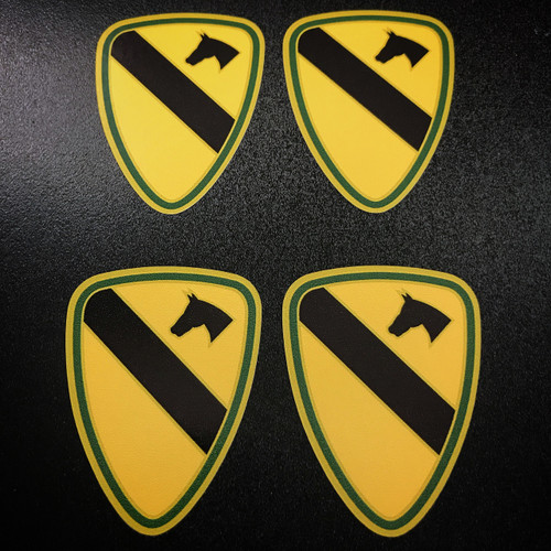 US ARMY 1st Cavalry Division (4 pack) - Stickers