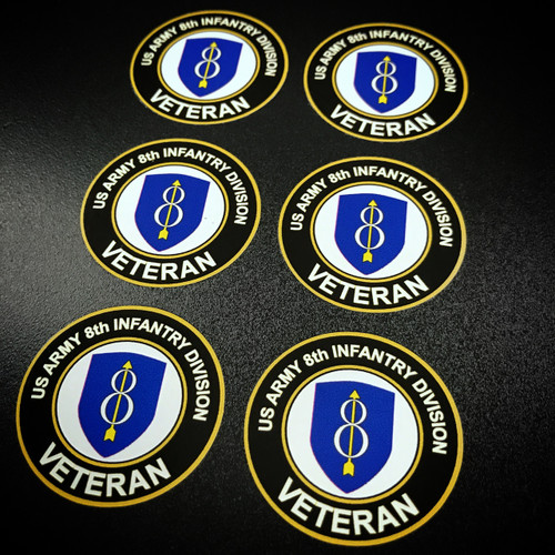 US ARMY 8th Infantry Circle (6 pack) - Stickers