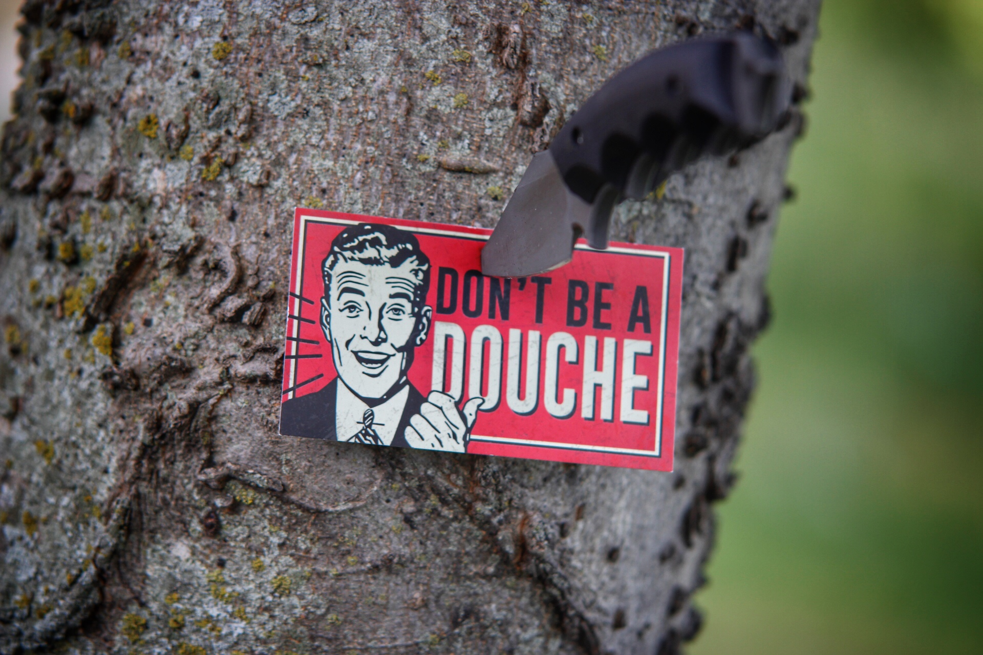 Don't Be A Douche Card