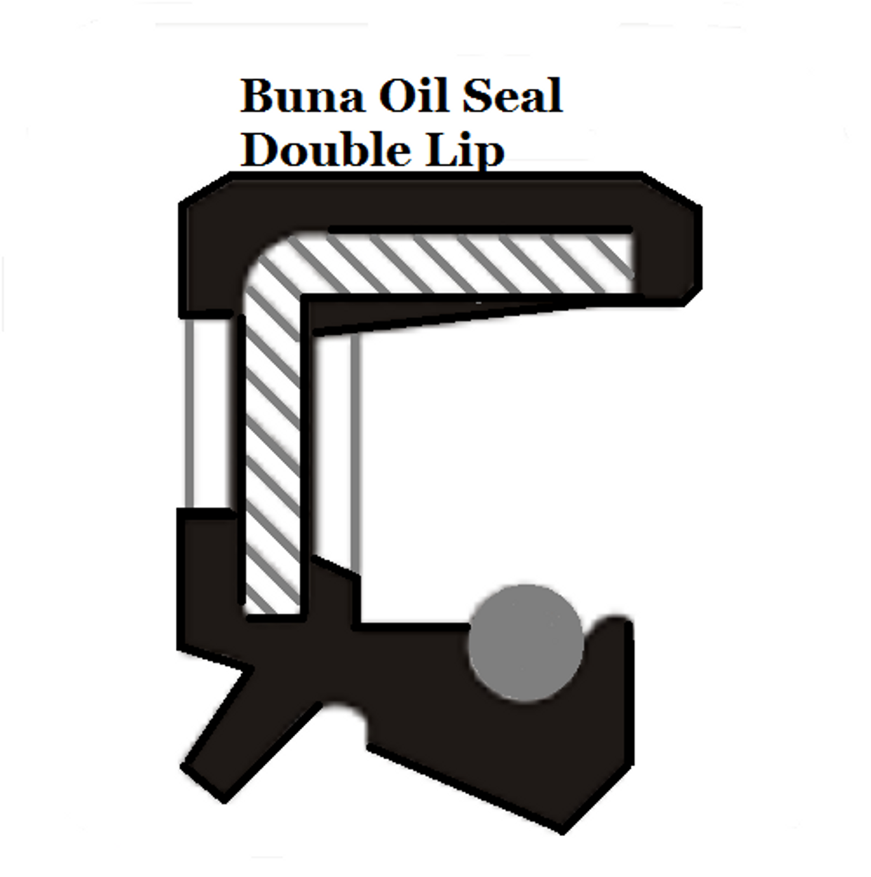 Oil Shaft Seal 105 x 130 x 13mm Double Lip   Price for 1 pc