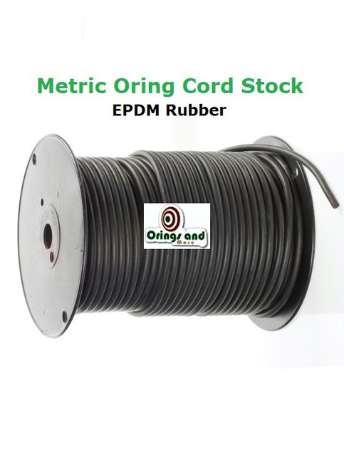 Metric 4.5mm O-ring Cord EPDM   Price per Foot