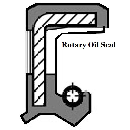 Oil Shaft Narrow Seal 14 x 24 x 7mm   Price for 1 pc